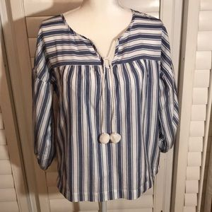 Madewell Blue and White Striped Blouse XS